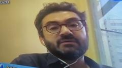 Sessão online com os vereadores. Na foto, o secretário de Educação Adriano Naves de Brito