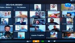 Vereadores se reuniram hoje para mais uma sessão online
