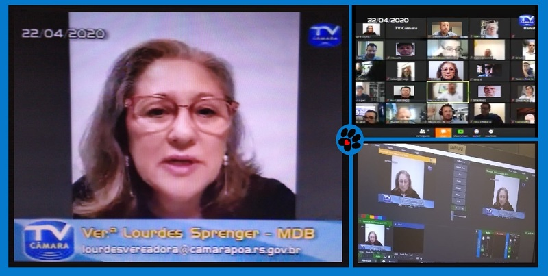 Vereadora Lourdes em sessão virtual