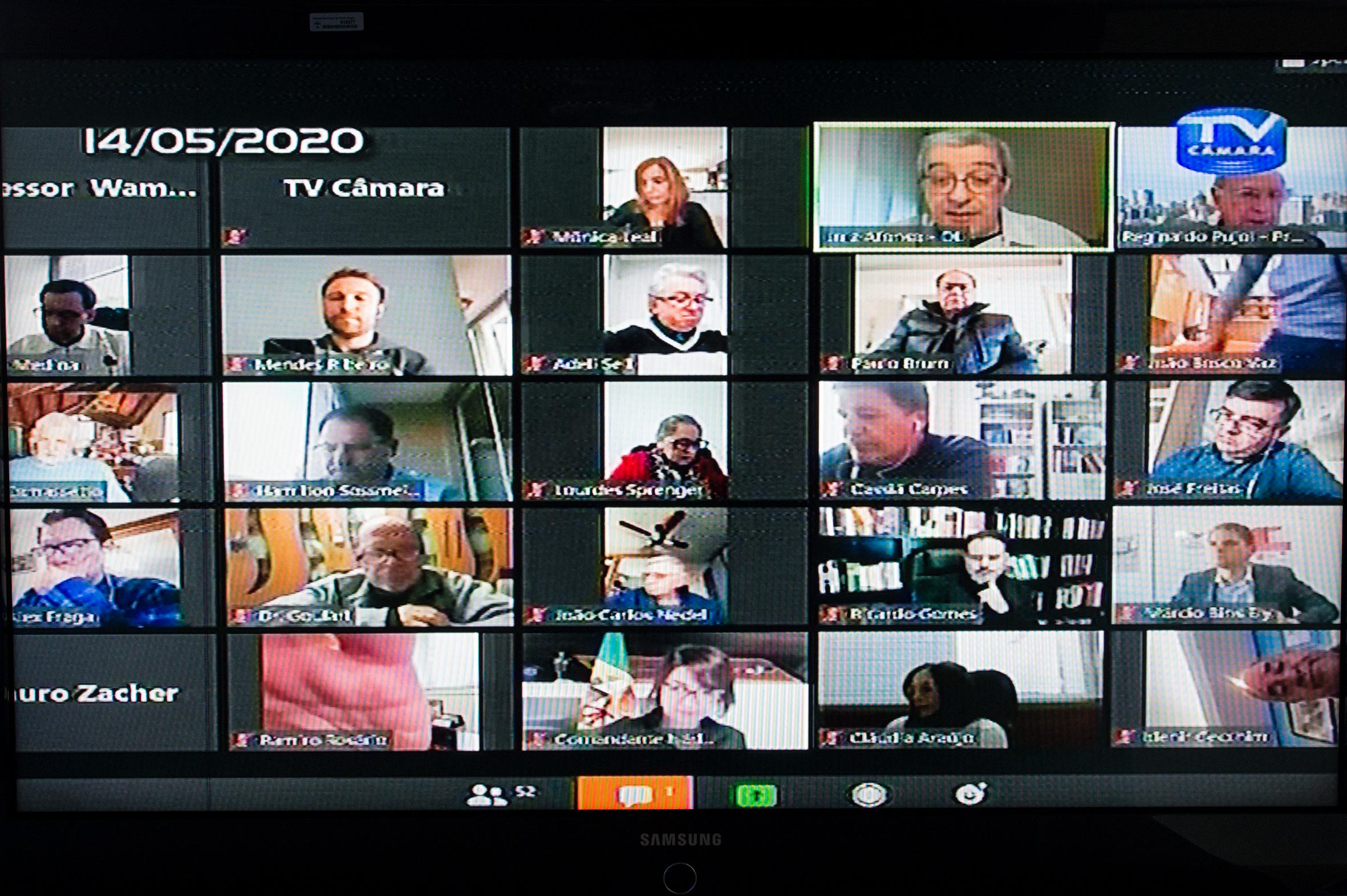 Legislativo da capital vem mantendo suas atividades de plenário de modo virtual desde meados de março