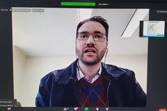 Audiência Pública online para apresentação do Relatório de Gestão da Saúde do 1º Quadrimestre de 2020, por parte da Secretaria Municipal de Saúde. Na foto, o secretário da Saúde, Pablo Stürmer