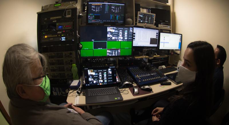 Sessão virtual da CMPA tem transmissões ao vivo pela TV Câmara. (Foto: Leonardo Contursi/CMPA)