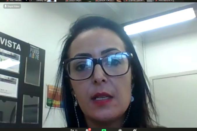 Audiência Púbica Metas Fiscais 1º quadrimestre de 2020 através de videoconferência. Na foto, secretária municipal da Fazenda, Liziane Baum (Foto: Ederson Nunes/CMPA)