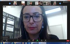 Audiência Púbica Metas Fiscais 1º quadrimestre de 2020 através de videoconferência. Na foto, secretária municipal da Fazenda, Liziane Baum