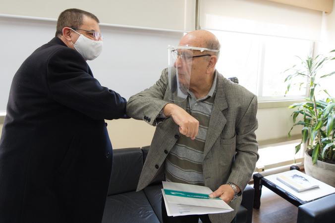 Presidente da CMPA, vereador Reginaldo Pujol (dir.), recebe presidente do Sincodiv-RS, Paulo Ricardo Siqueira