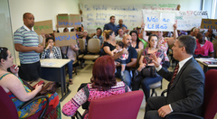 Presidente da CMPA, vereador Cassio Trogildo, recebe moradores da vila Montepio, que querem evitar leilão da área