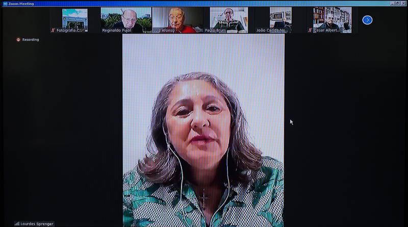 Reunião da Mesa Diretora da Câmara. Na foto: vice-presidente da CMPA, vereadora Lourdes Sprenger