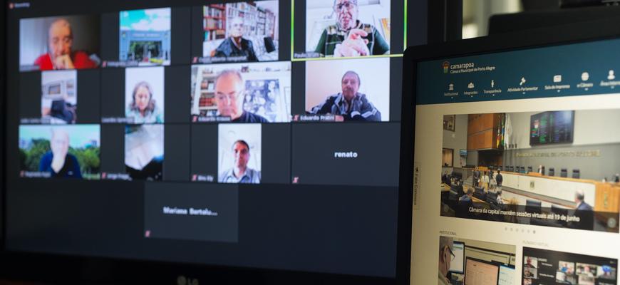 Reunião virtual entre membros da Mesa e diretores do Legislativo foi realizada nesta sexta-feira