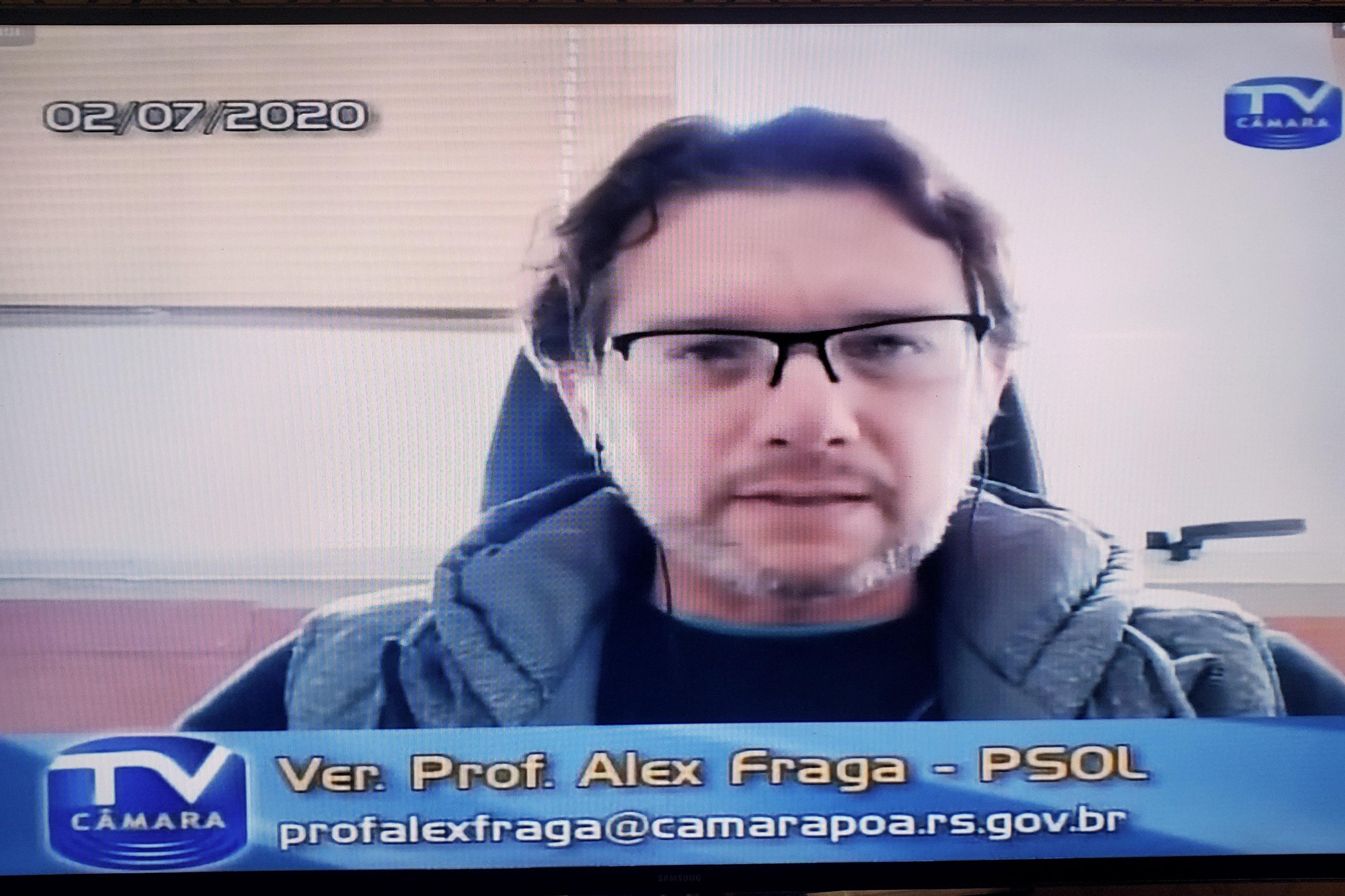 Professor Alex Fraga (PSOL)