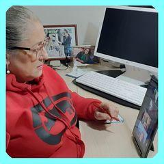Vereadora Lourdes em reunião virtual no sábado