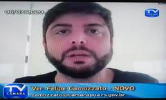 Comparecimento do prefeito de Porto Alegre, Nelson Marchezan Jr. Na foto: vereador Felipe Camozato
