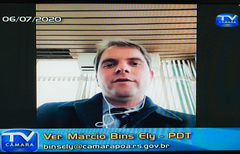 Comparecimento do prefeito de Porto Alegre, Nelson Marchezan Jr. Na foto: vereador Márcio Bins Ely