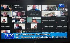 27ª Sessão Ordinária - Realização Remota dentro do isolamento social.