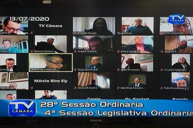28ª Sessão Ordinária realizada remotamente dentro do isolamento social.