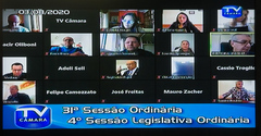 Legislativo vem realizando seus trabalhos por videoconferência