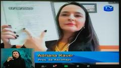 Presidente da Ascomepc, Adriana Kauer