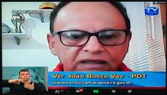 37ª Sessão Ordinária da 4ª Sessão Legislativa. Na foto: vereador João Bosco Vaz