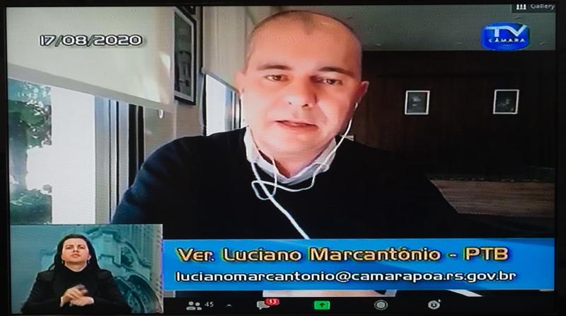 37ª Sessão Ordinária da 4ª Sessão Legislativa. Na foto: vereador Luciano Marcantônio