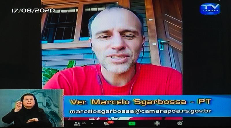 37ª Sessão Ordinária da 4ª Sessão Legislativa. Na foto: vereador Marcelo Sgarbossa