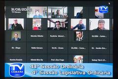 Comissões permanentes estiveram reunidas na tarde desta segunda-feira durante sessão virtual