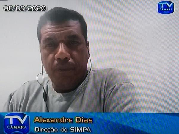 Audiência Pública para discutir sobre o PLCE 07/20, sobre a Procempa. Na foto: Alexandre Dias, diretor do Simpa