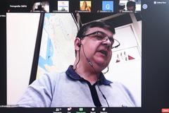 Audiência Pública para apresentação do Relatório de Gestão da Saúde do 2º Quadrimestre de 2020, por parte da Secretaria Municipal de Saúde. Na foto, presidente da comissão, vereador José Freitas
