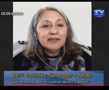 Vereadora Lourdes Sprenger em Período de Liderança