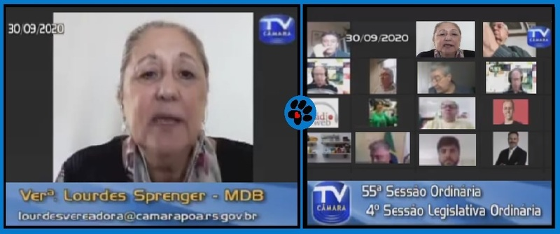 Vereadora Lourdes Sprenger comemora mais uma vitória da Causa Animal