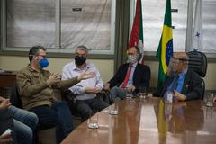 Presidente da Câmara Reginaldo Pujol recebe representantes do Imesf.