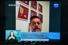 Deputado apresentou seu testemunho desde sua casa em Belo Horizonte