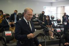 Sessão ordinária. Na foto, vereador Cirilo Faé.