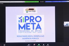 Audiência Pública para apresentação e debate da Lei Orçamentária Anual (LOA) 2021 e para divulgação dos resultados dos indicadores de desempenho relativos à execução do Programa de Metas (Prometa) no exercício 2019.