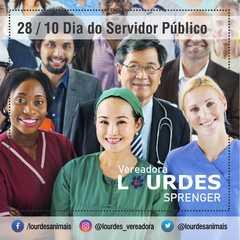 Vereadora Lourdes parabeniza a todos os servidores públicos
