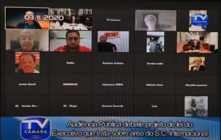 Audiência Pública para debater o projeto de lei que trata sobre área do S.C Internacional.