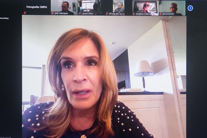 Reunião online sobre vigilância e segurança. Vereadora Mônica Leal