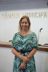 Cerimônia de posse dos vereadores. Vereadora Fernanda Barth.