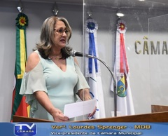 Lourdes Sprenger destacou as ações legislativas sem interrupção durante a pandemia