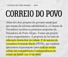Matéria Correio do Povo - 06.01 - PL Homeschooling