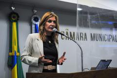 Vereadora Mônica Leal (PP)m segunda secretária da Mesa Diretora