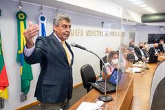 Sebastião Melo em manifestação no Plenário da Câmara
