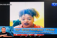 Vereadora Bruna Rodrigues (PCdoB)