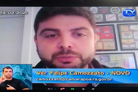 Vereador Felipe Camozzato (Novo) presidiu, na legislatura anterior, Comissão Especial que analisou leis em desuso