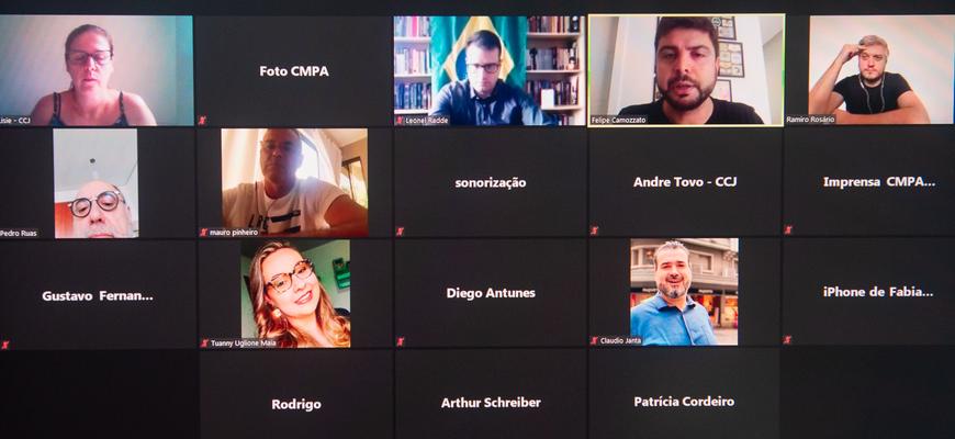 Reunião da CCJ ocorreu de forma virtual
