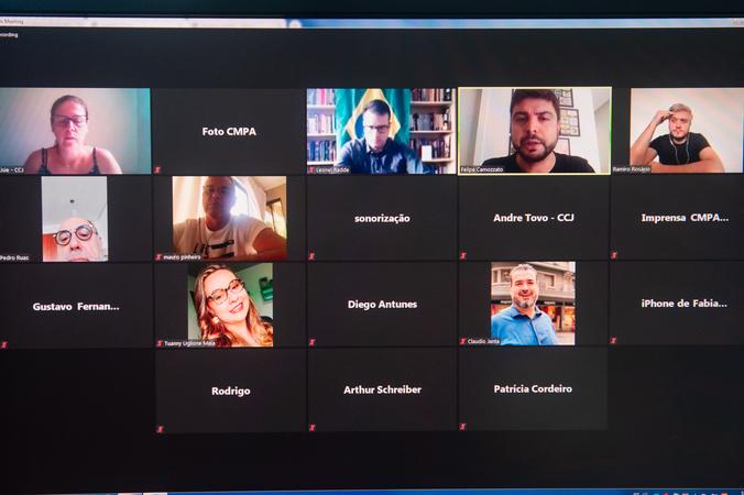 Reunião da CCJ. (Foto: Ederson Nunes/CMPA)