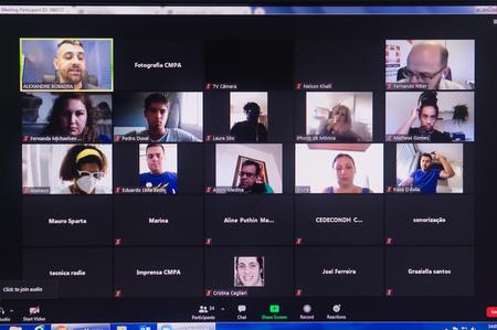 Presidida por Alexandre Bobadra (canto superior da tela), reunião da Cedecondh seguiu formato virtual