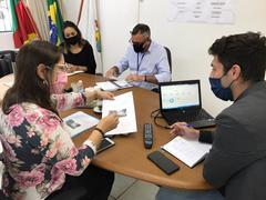 Vereadora Tanise Sabino realiza reunião com Secretário de Serviços Urbanos