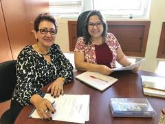 Visita da Psicóloga e Diretora do Instituto de  Desenvolvimento Global-  IDG- Zeila Bedin