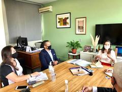 Reunião na Secretaria Municipal de Educação – Nova Escola de Educação Infantil será inaugurada no bairro Morro Santana