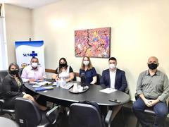 Reunião com o Secretário Municipal da Saúde, Mauro Esparta
