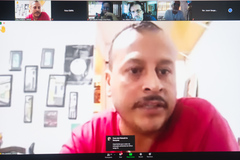 Reunião da Cosmam:  situação do recolhimento do lixo na Vila Dique, discussão sobre contratos dos serviços de triagem e fiscalização de coleta clandestina de materiais recicláveis.